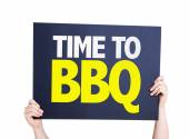 Time To BBQ card — Stock Photo