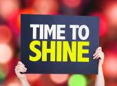 Time to Shine card — Stock Photo
