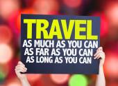 Travel As Much Far Long As You Can card — Stock Photo