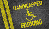 Handicapped Parking written on the road — Stock Photo