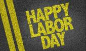 Happy Labour Day text — Stock Photo