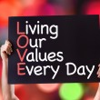 Living Our Values Every Day card — Stock Photo #73411445