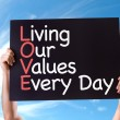 Living Our Values Every Day card — Stock Photo #73411455
