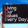 Living Our Values Every Day card — Stock Photo #73411457