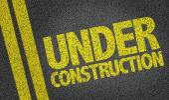 Under Construction Text — Stock Photo