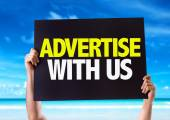 Advertise With Us card — Stock Photo