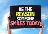 Be The Reason Someone Smiles Today card — Stock Photo