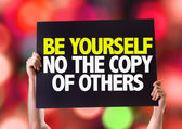 Be Yourself Not The Copy Of Others card — Stock Photo