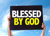 Blessed By God card — Stock Photo