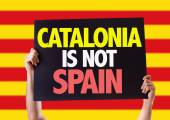 Catalonia Is Not Spain card — Stock Photo