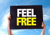 Feel Free card — Stock Photo
