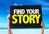 Find Your Story card — Stock Photo