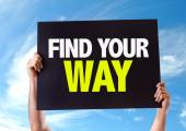 Find Your Way card — Stock Photo