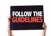 Follow the Guidelines card — Stock Photo