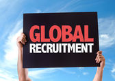 Global Recruitment card — Stock Photo