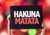 Hakuna Matata card — Stock Photo