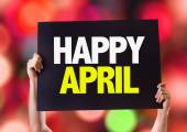 Happy April card — Stock Photo