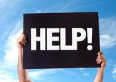 Yardım! metni kartı — Stok fotoğraf