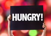 Hungry! text card — Stock Photo