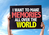 I Want to Make Memories All Over the World card — Stock Photo