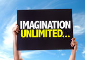 Imagination Unlimited... card — Stock Photo