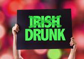 Irish Drunk card — Stock Photo
