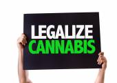 Legalize Cannabis card — Stock Photo