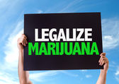 Legalize Marijuana card — Stock Photo