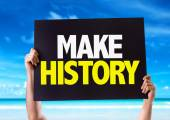 Make History card — Stock Photo