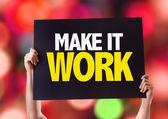 Make It Work card — Stock Photo