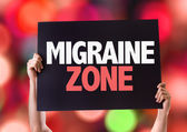 Migraine Zone card — Stock Photo
