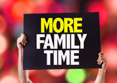 More Family Time card — Stock Photo