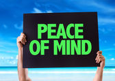 Peace of Mind card — Stock Photo