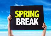 Spring Break card — Stock Photo
