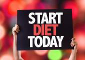 Start Diet Today card — Stock Photo