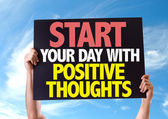 Start Your Day with Positive Thoughts card — Stock Photo
