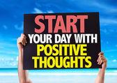 开始你的一天,积极的想法卡 — 图库照片