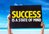 Success Is a State of Mind card — Stock Photo