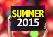 Summer 2015 card — Stock Photo