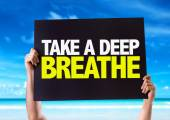Take a Deep Breathe card — Stock Photo
