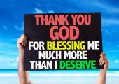 Thank You God For Blessing Me card — Stock Photo