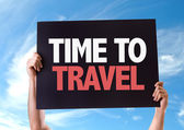 Time To Travel card — Stock Photo