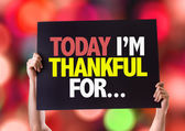 Today Im Thankful For... card — Stock Photo