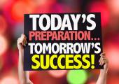 Today Preparations... Tomorrow's Success! card — Stock Photo