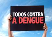 All Against Dengue card — Stock Photo