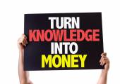 Turn Knowledge Into Money card — Stock Photo