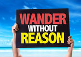 Wander Without Reason card — Stock Photo