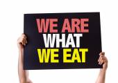 We Are What We Eat card — Stock Photo