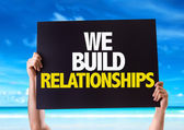 We Build Relationships card — Stock Photo