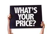 Whats Your Price? card — Stock Photo